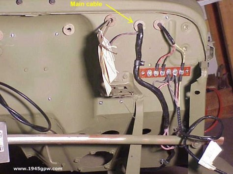 1943 willys jeep wiring diagram mb gpw installing your firewall grommets on your wwii jeep 68 willys jeep wiring diagram